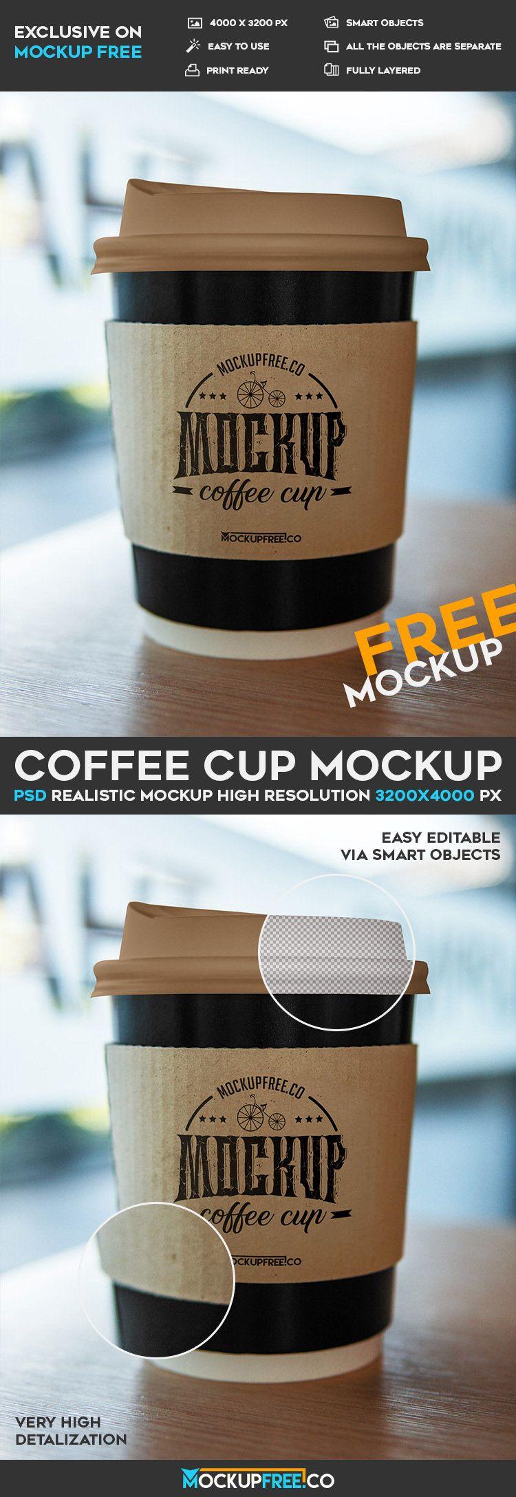 Coffee Cup Free PSD Mockup on Behance imagens)