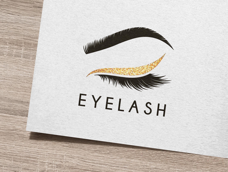 Eye lash logo eyelash logo lashes logo makeup logo design