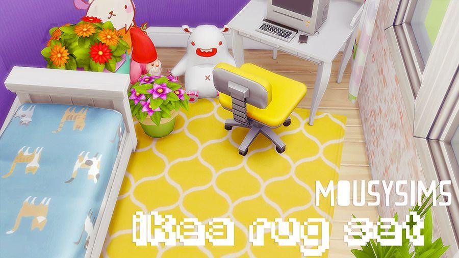 Mousysims S Ikea Rug Set Sims 4 Build Sims 4 Sims 4