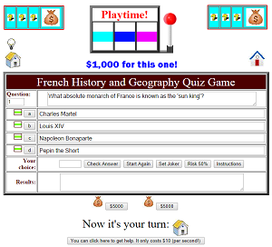 French History And Geography Quiz Game Play For Free Online No - Geography quiz game