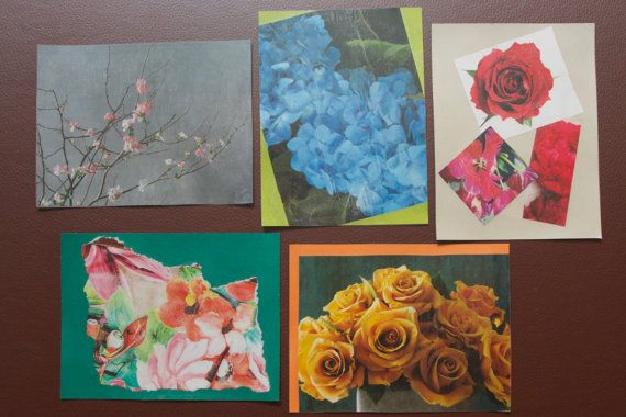 """Themed: """"Field of Flowers"""" Handmade Note Cards"""