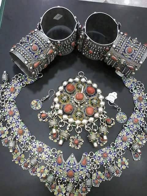 Bijoux Algerie Argent : Parure en argent berb?re bijoux berb?res