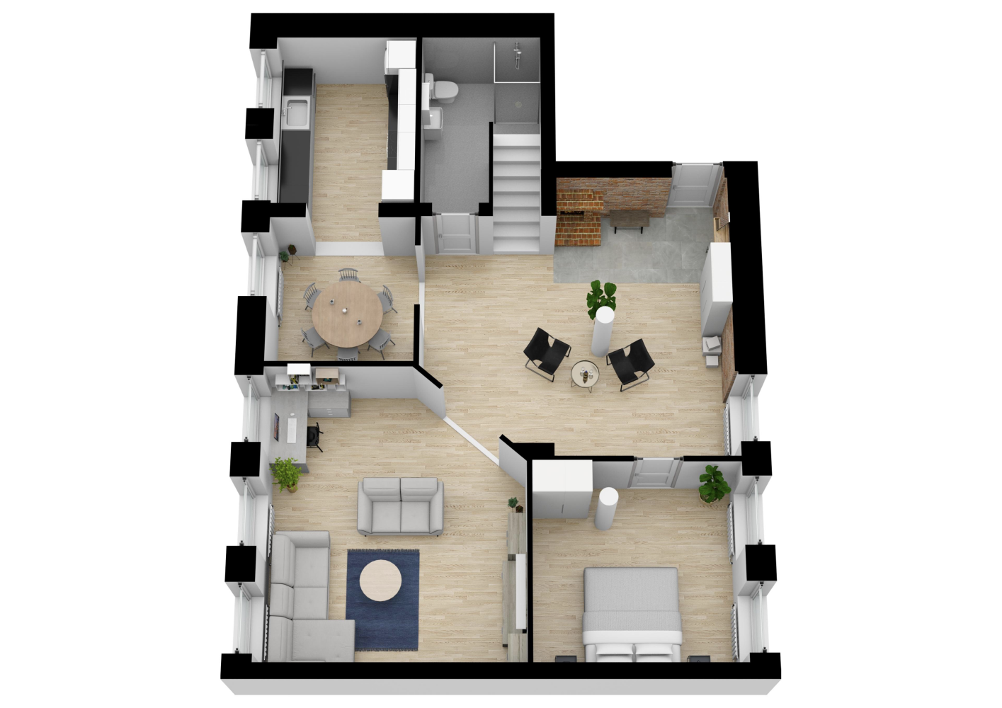 3d Dollhouse Render Made With Floorplanner Com Floor Plans Floor Plan Design Create Floor Plan