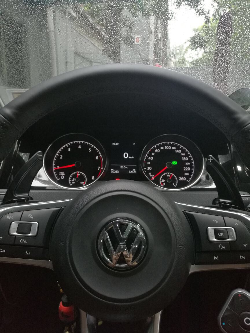 Black Steering Paddle Shifter Extension VW Golf MK7 Scirocco GTi R ...
