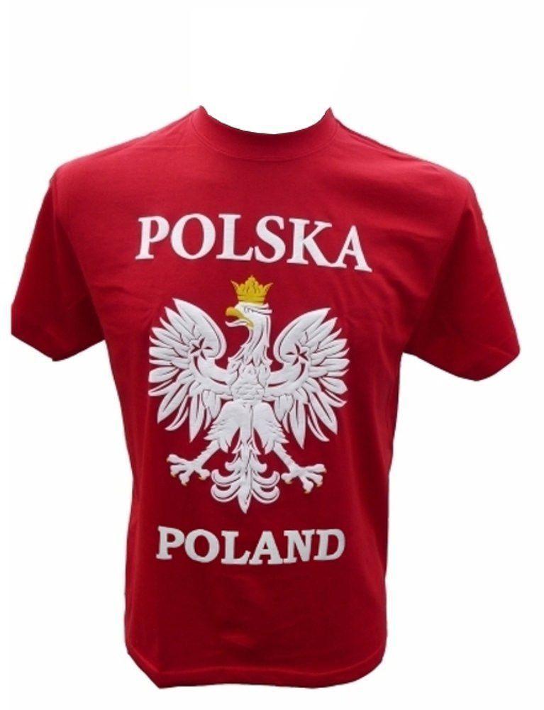 Mens Polska Poland White Eagle Red T-Shirt 5d3b9a846