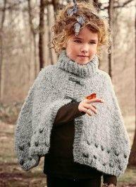 tricoter une cape pour fillette tricot pinterest tricoter tricot et crochet. Black Bedroom Furniture Sets. Home Design Ideas