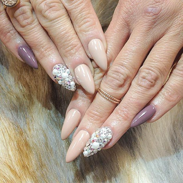 30 Creative Stiletto Nail Designs | StayGlam - 30 Creative Stiletto Nail Designs Stilettos, Accent Nails And Nail
