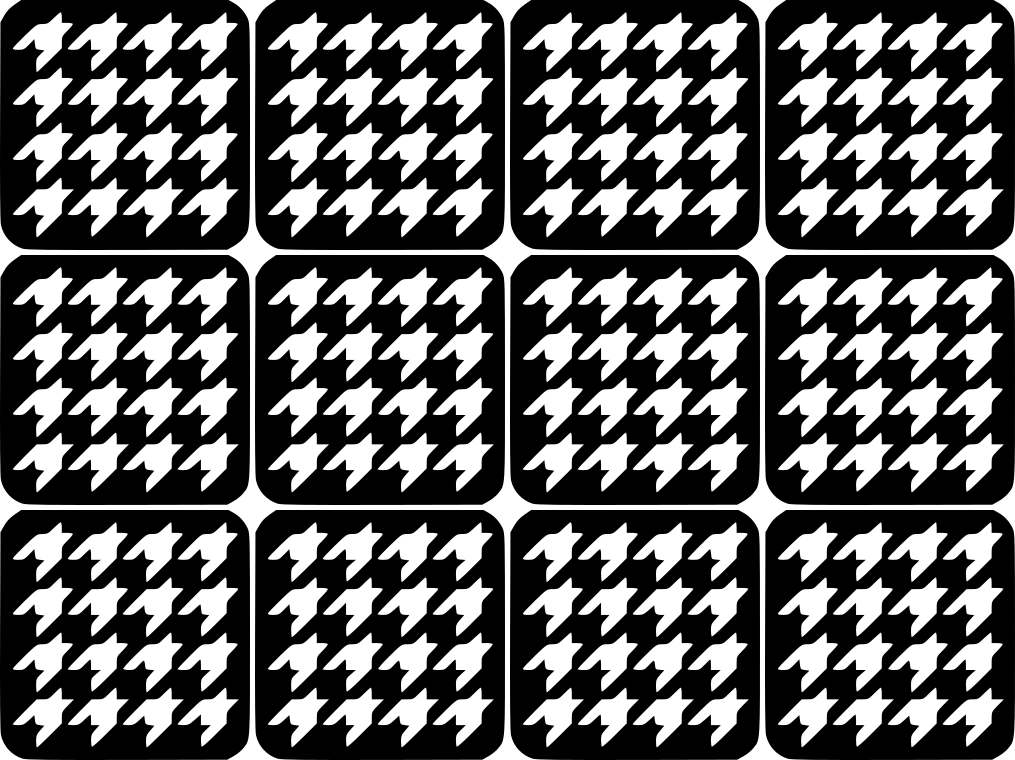 Hounds tooth Nail Art Vinyl Decal Sticker Stencil | Nail Art Stencil ...