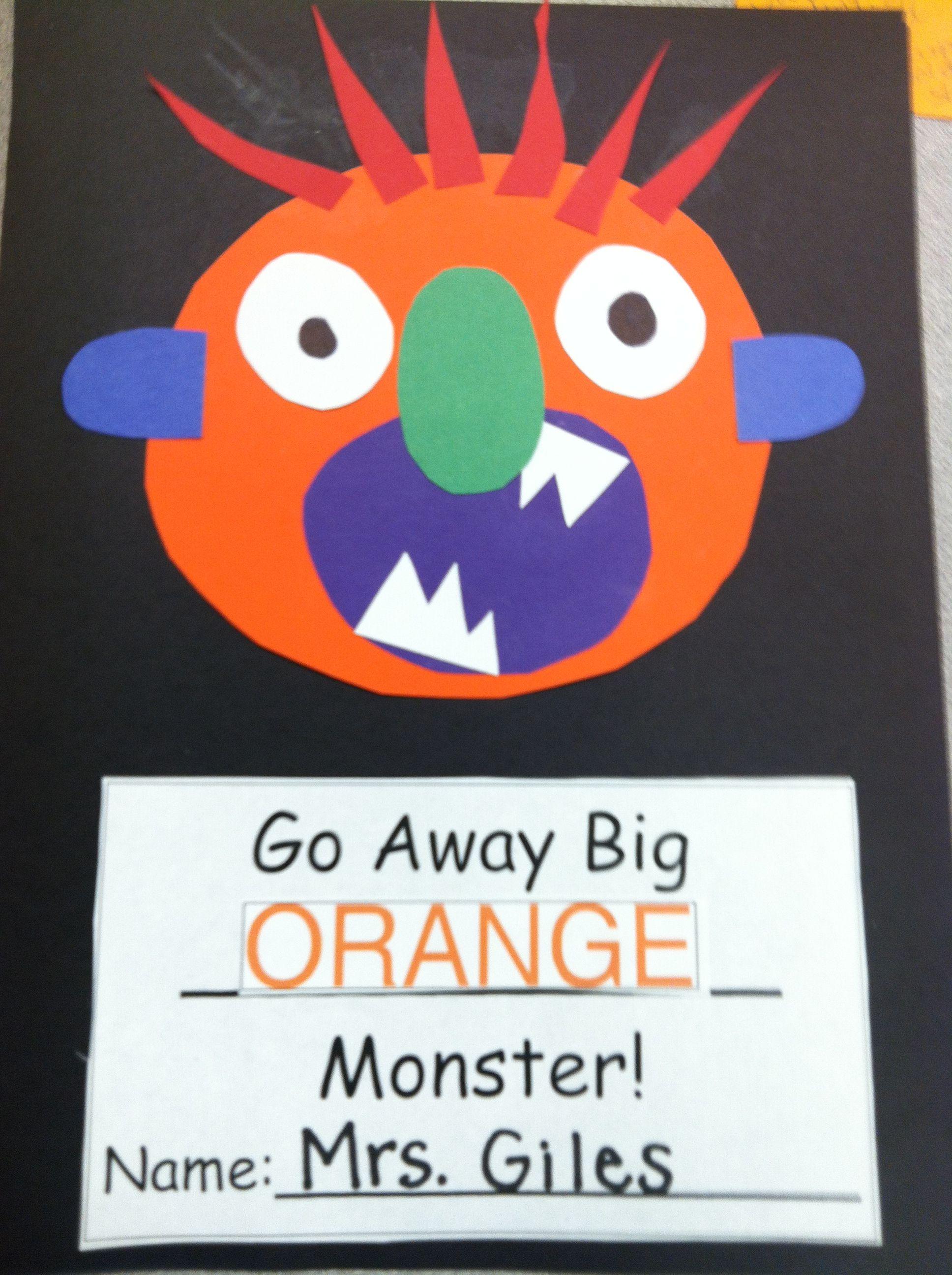 Go Away, Big Green Monster! Lesson Plan
