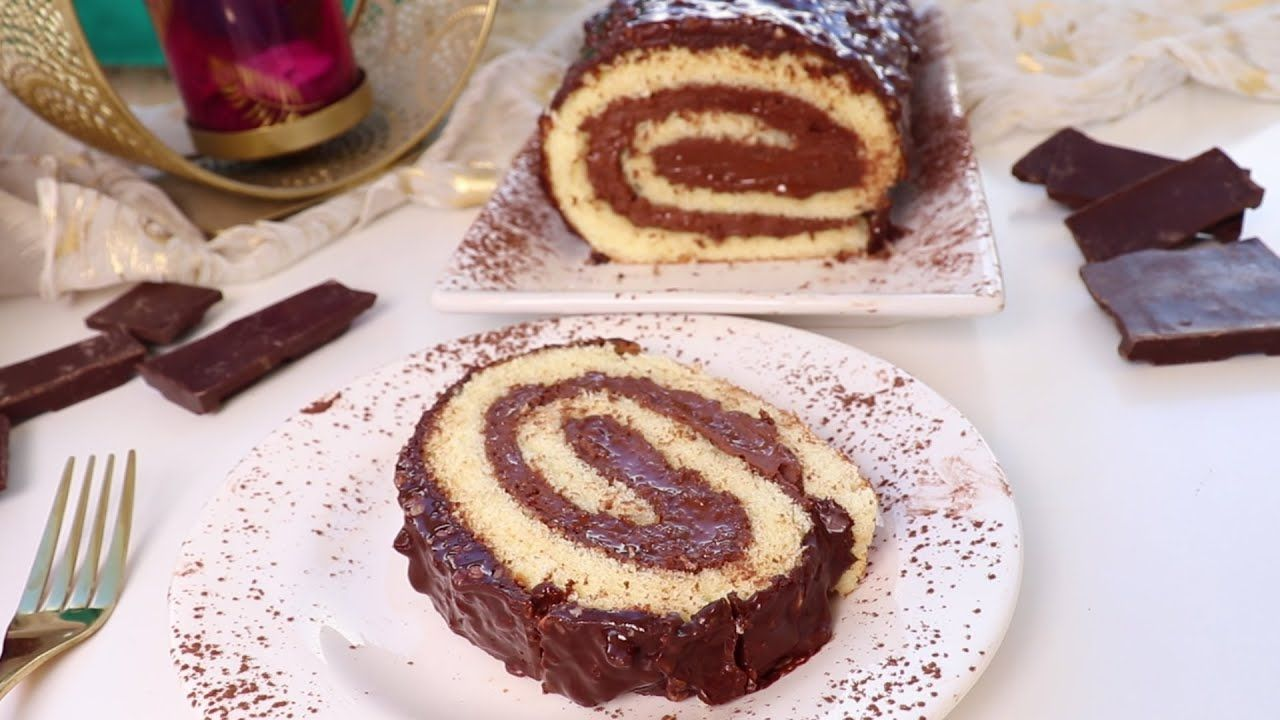 سويسرول بالدانيت Swiss Roll A La Danette Youtube Tarta