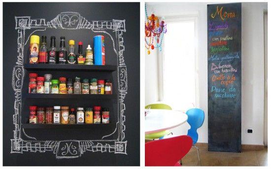 Kitchen Chalkboard Frame And Pillar Chalkboard Paint Blackboard