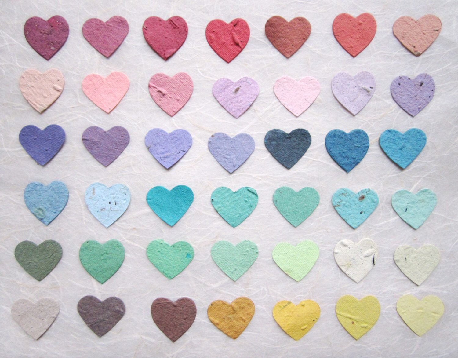 200 Plantable Wedding Favors Hearts Seed Paper Confetti Hearts