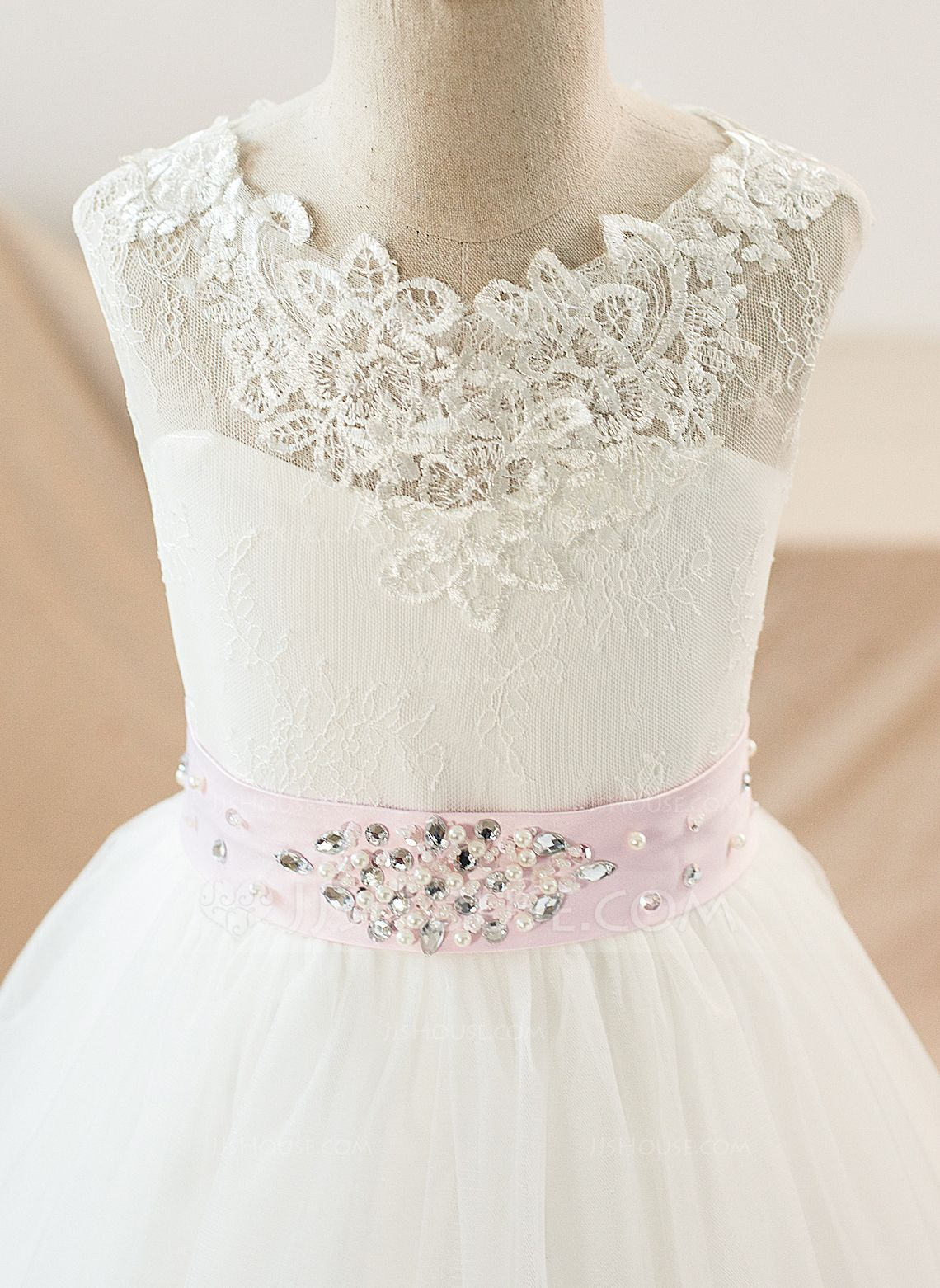 Petticoat for wedding dress  Ball Gown Scoop Neck Floorlength Sash Appliques Bows Tulle Lace
