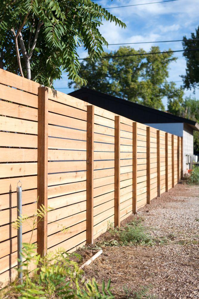 diy horizontal slatted fence tutorial from vintage revivals diyyardmakeovers diyprojects - Deckideen Nz