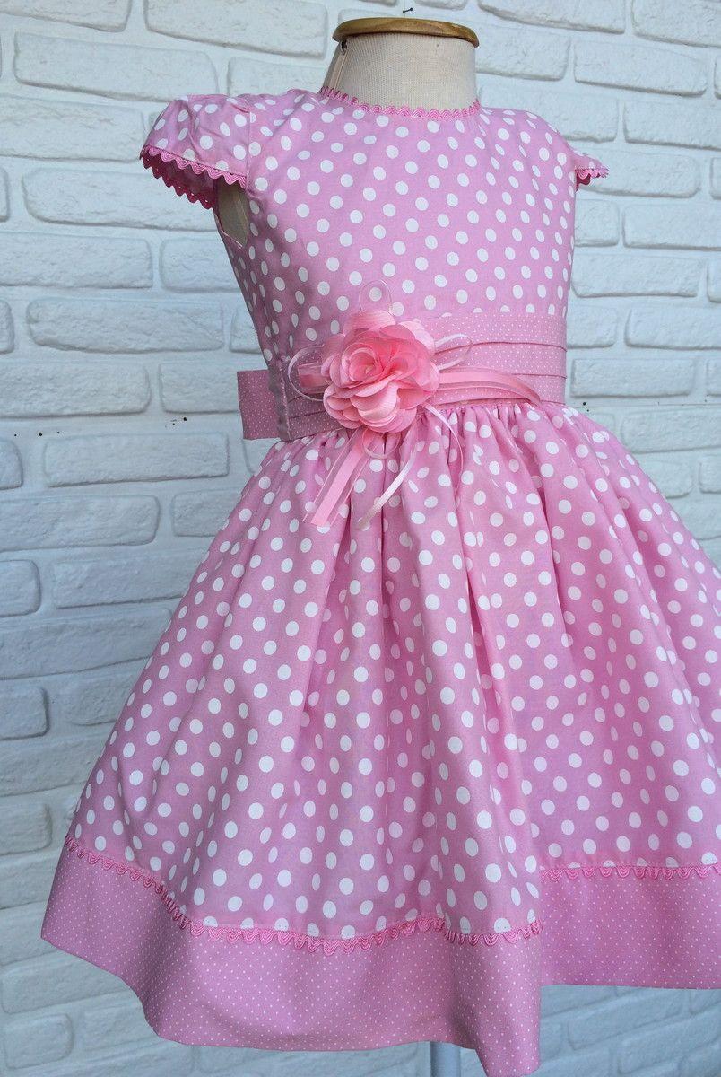 Minnie baby rosa vestido infantil temático festa | Pinterest | Girls ...