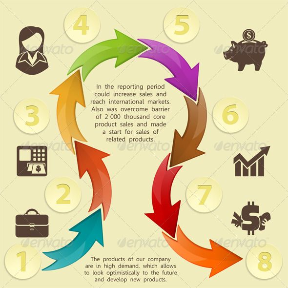 infographics design template arrow atm briefcase b n2