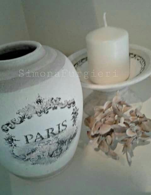 Vaso e candela