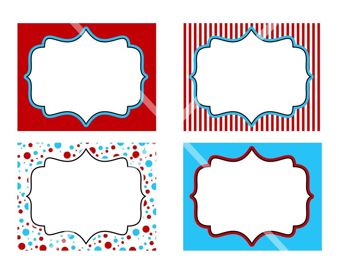 Diy Dr Seuss Printable Birthday Party Labels Tags