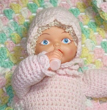 Vintage Baby Doll Attached To Crochet Blanket By Great2bme On Etsy