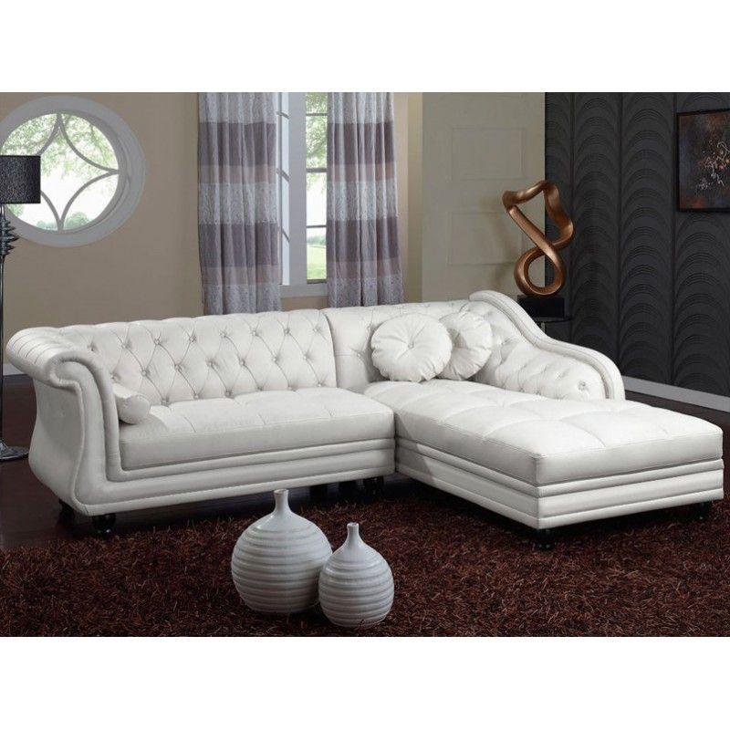 Chaise longue brittish blanco izquierda casa pinterest ideas de muebles sala de estar - Chaise longue en anglais ...