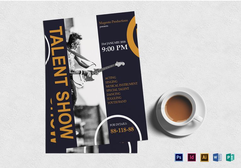 Talent Show Flyer  Design Flyer Templates    Flyer