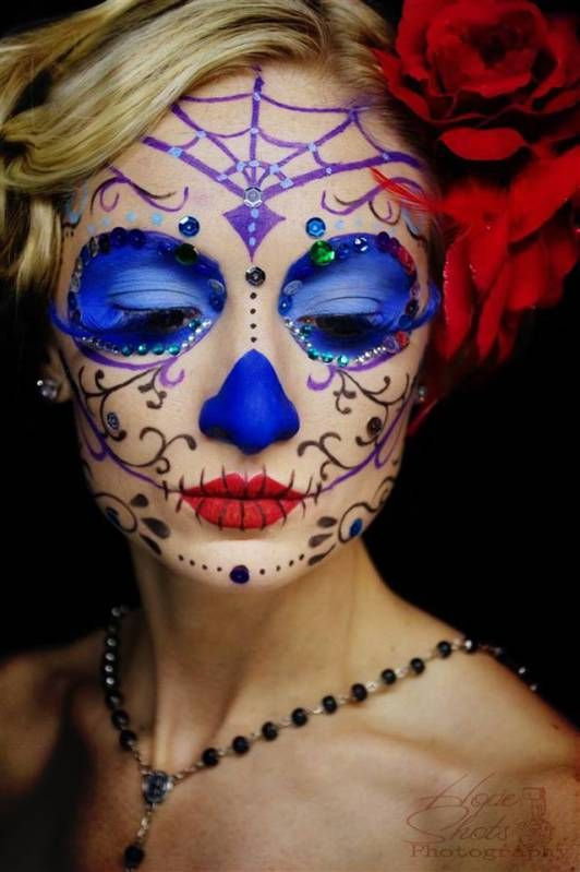 Sugar skull makeup photography sugarskull dayofthedead day of the dead pinterest sugar - Sugar skull images pinterest ...