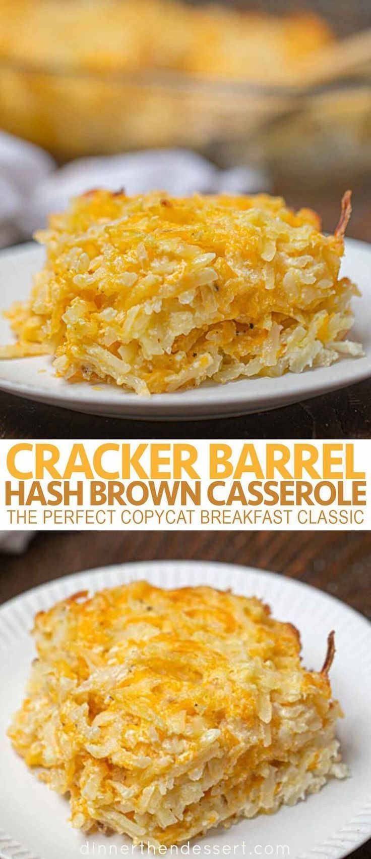 Cracker Barrel Hash Brown Casserole (Copycat) - Dinner, then Dessert