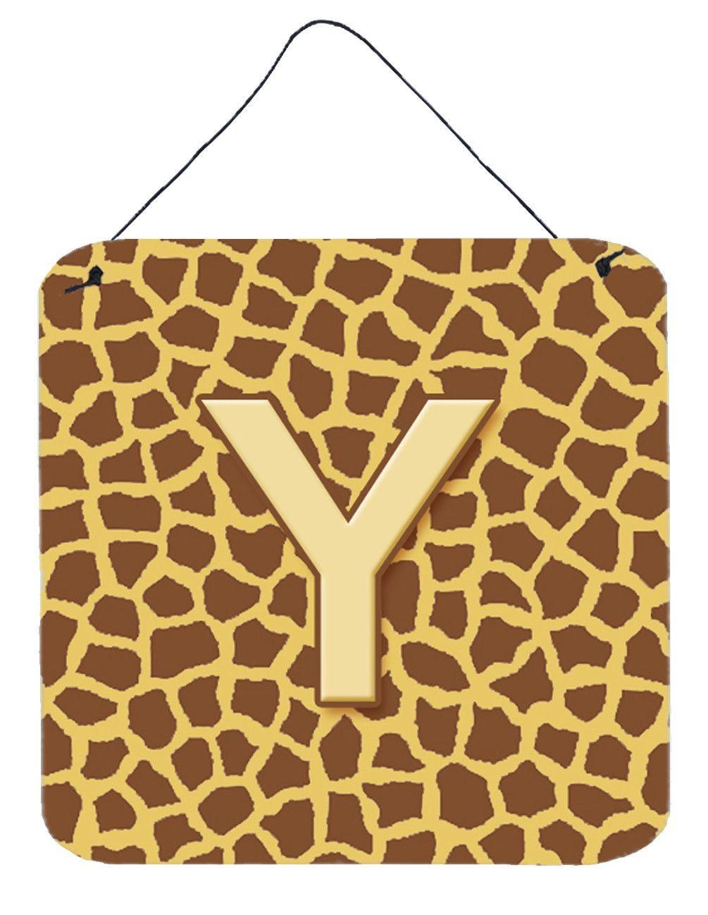 Letter Y Initial Monogram - Giraffe Aluminium Metal Wall or Door ...