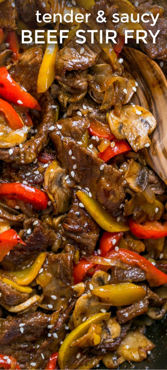 Photo of Beef Stir Fry Recipe with 3 Ingredient Sauce – NatashasKitchen.com