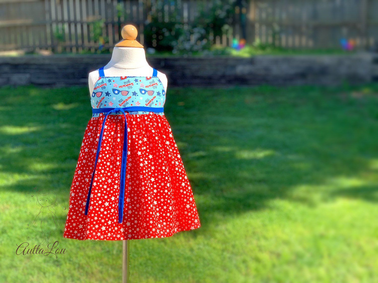 red white and blue dress, girls baby toddler Patriotic Memorial Day All American Girl Fourth of July summer birthday