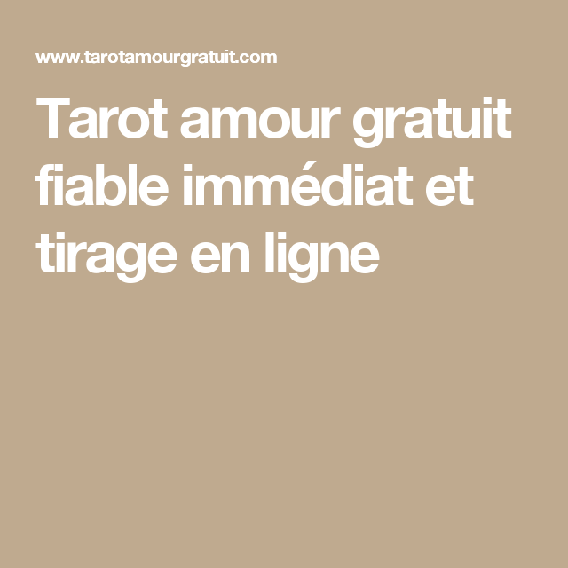 tarot gratuit fiable immediat