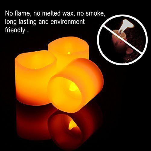 Gr4tec 6er Led Kerzen Teelichter Flammenlose Echtw Led Kerzen