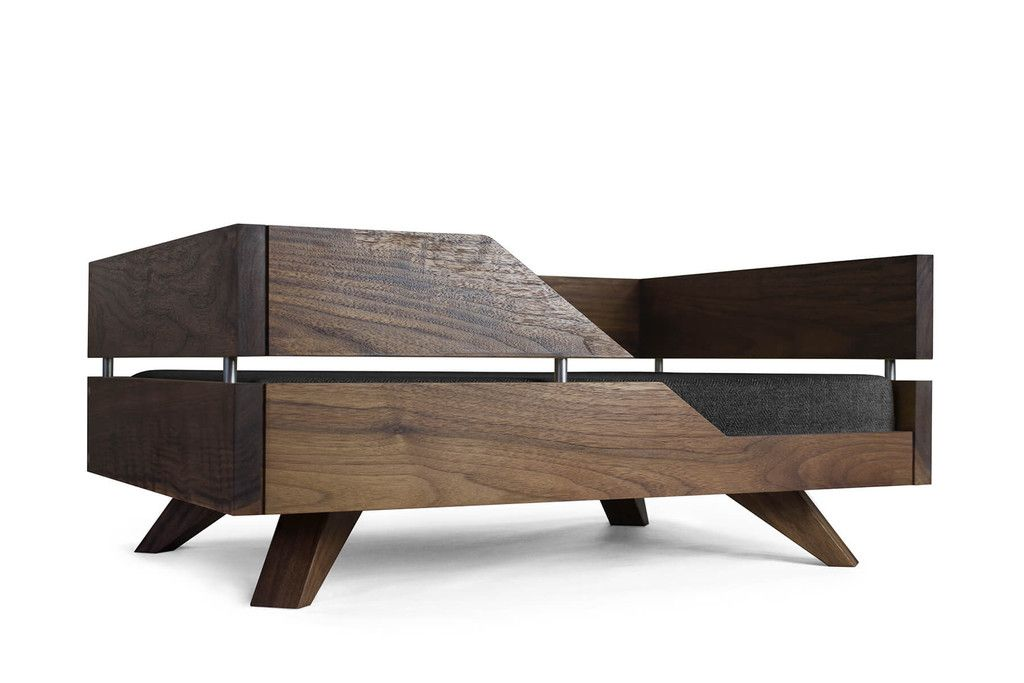 contemporary wooden dog bed from kofa