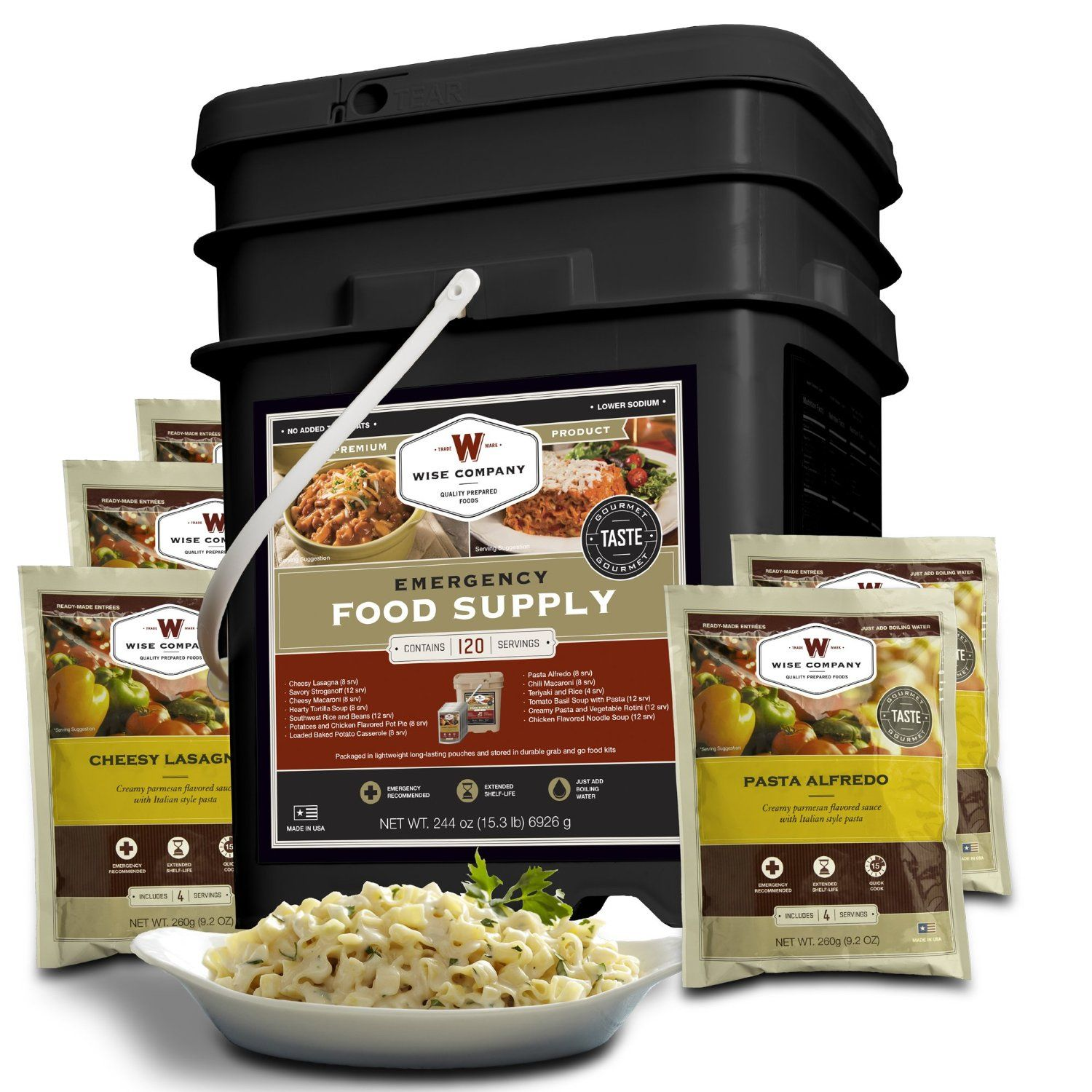 Wise Food Storage Reviews Wise Company Entrée Only Grab And Go Food Kit  Survival Food