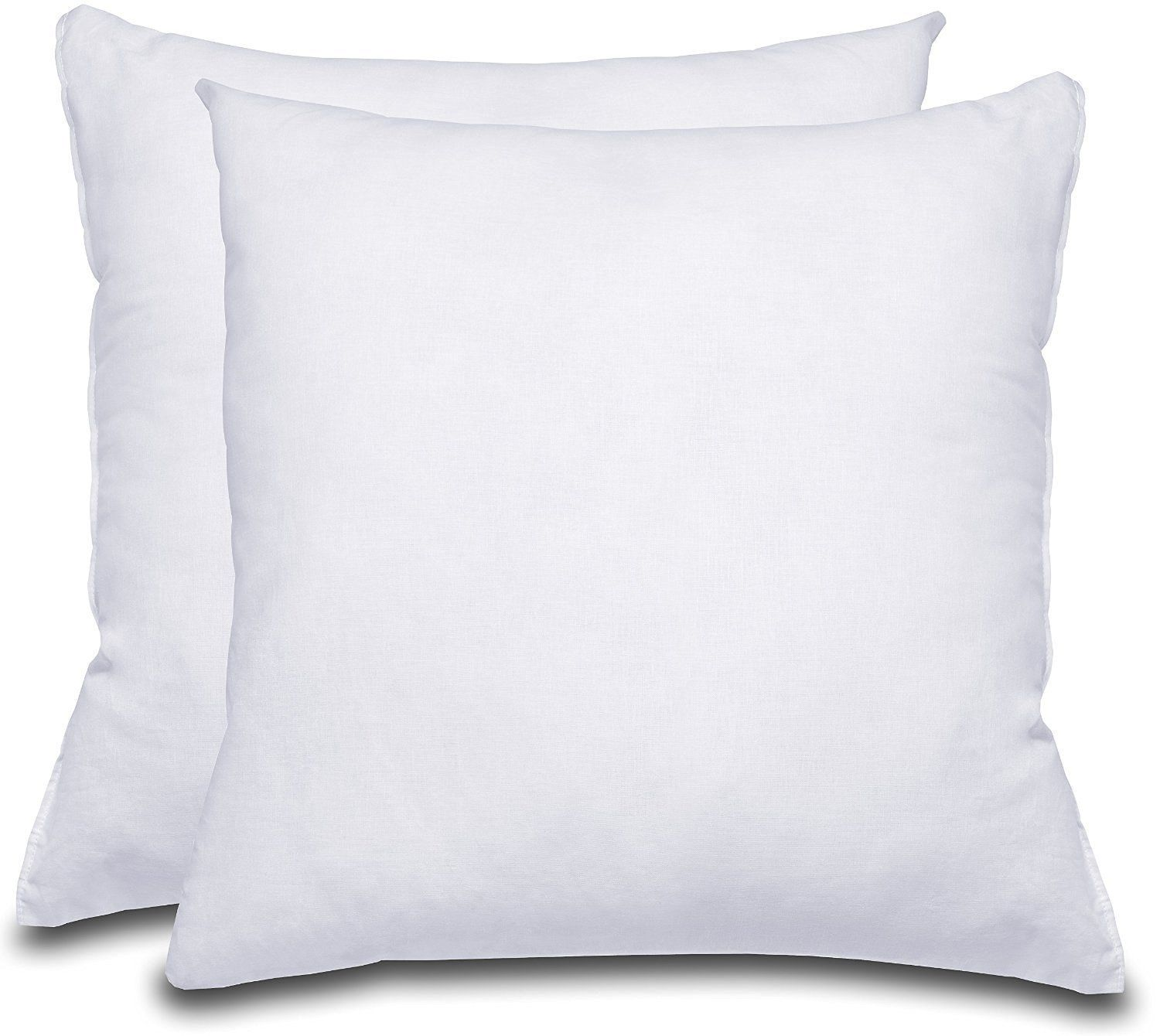 Decorative Pillow Insert Pack Of 2 White Square 18x18 Sofa And Bed Pillow Microfiber Cover Indoor White Pillows By Bed Pillows Pillows Bed Pillows Decorative
