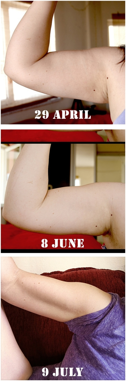 Arm workout for slimmer arms in 6 weeks--If you're just starting out, aim for two sets of 8 to 12 reps of the heaviest weight you can...