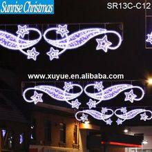 White led street motif, connectable xmas commercial decoration