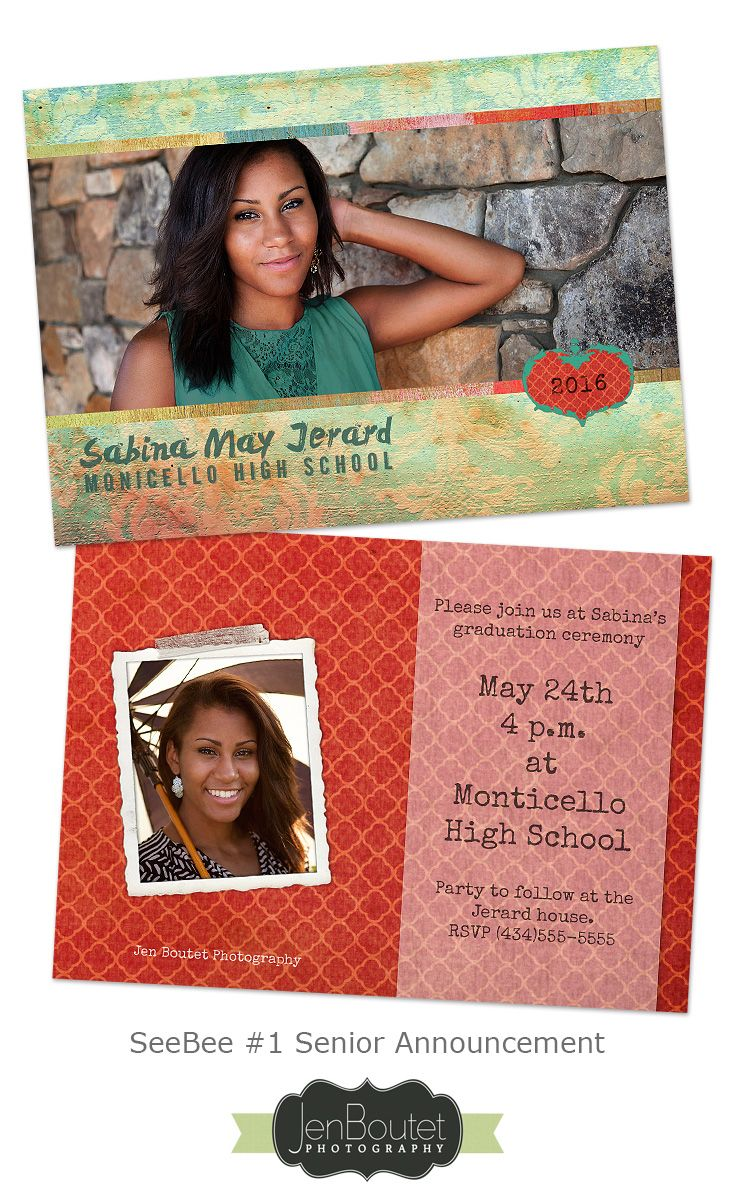 SeeBee #1 Graduation Announcement - Graduation Announcement card ...