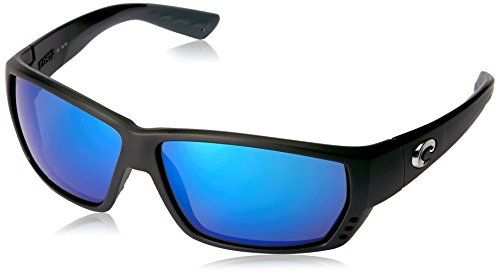 43e36b276090 Costa Del Mar Tuna Alley Sunglasses Matte Black Blue Mirror 580 Glass Lens      To view further for this item