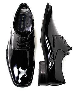 a25de38799c09 Men s Giorgio Brutini Black Patent Leather Tuxedo Lace Shoe