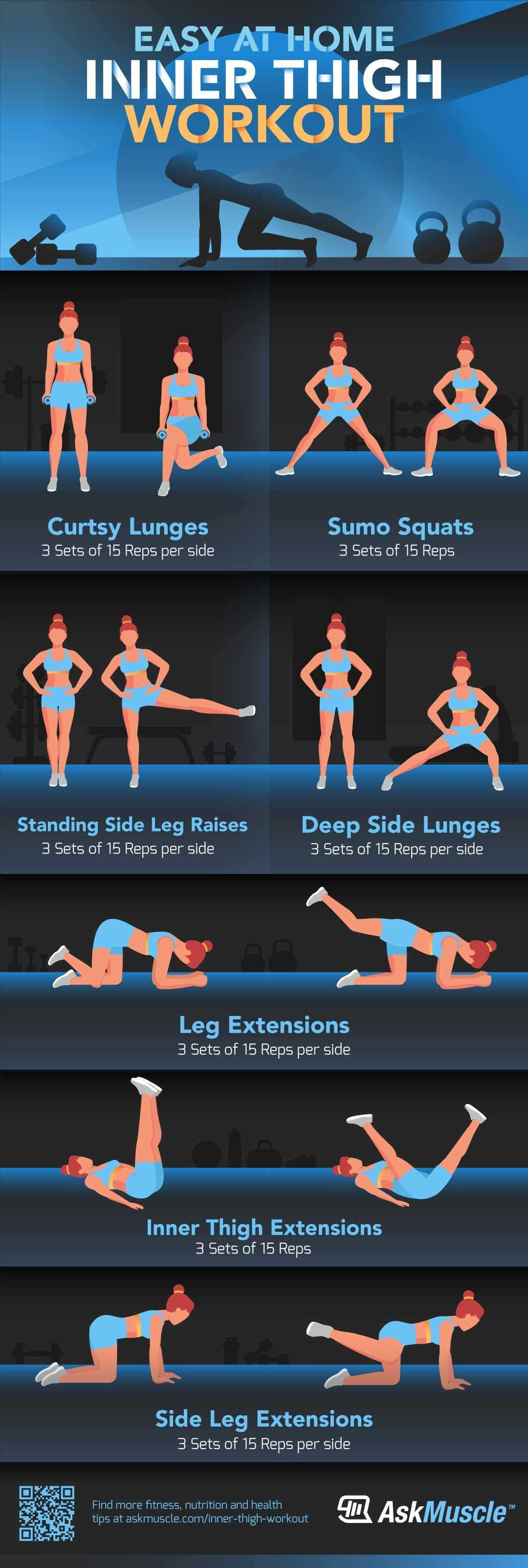 The Best Inner Thigh Workout Routine to Do at Home in 2020 ...