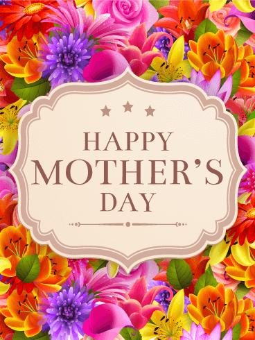 Fancy Flower Happy Mother S Day Card Birthday Greeting Cards By Davia Happy Mother S Day Card Happy Mothers Day Wishes Happy Mothers Day Images