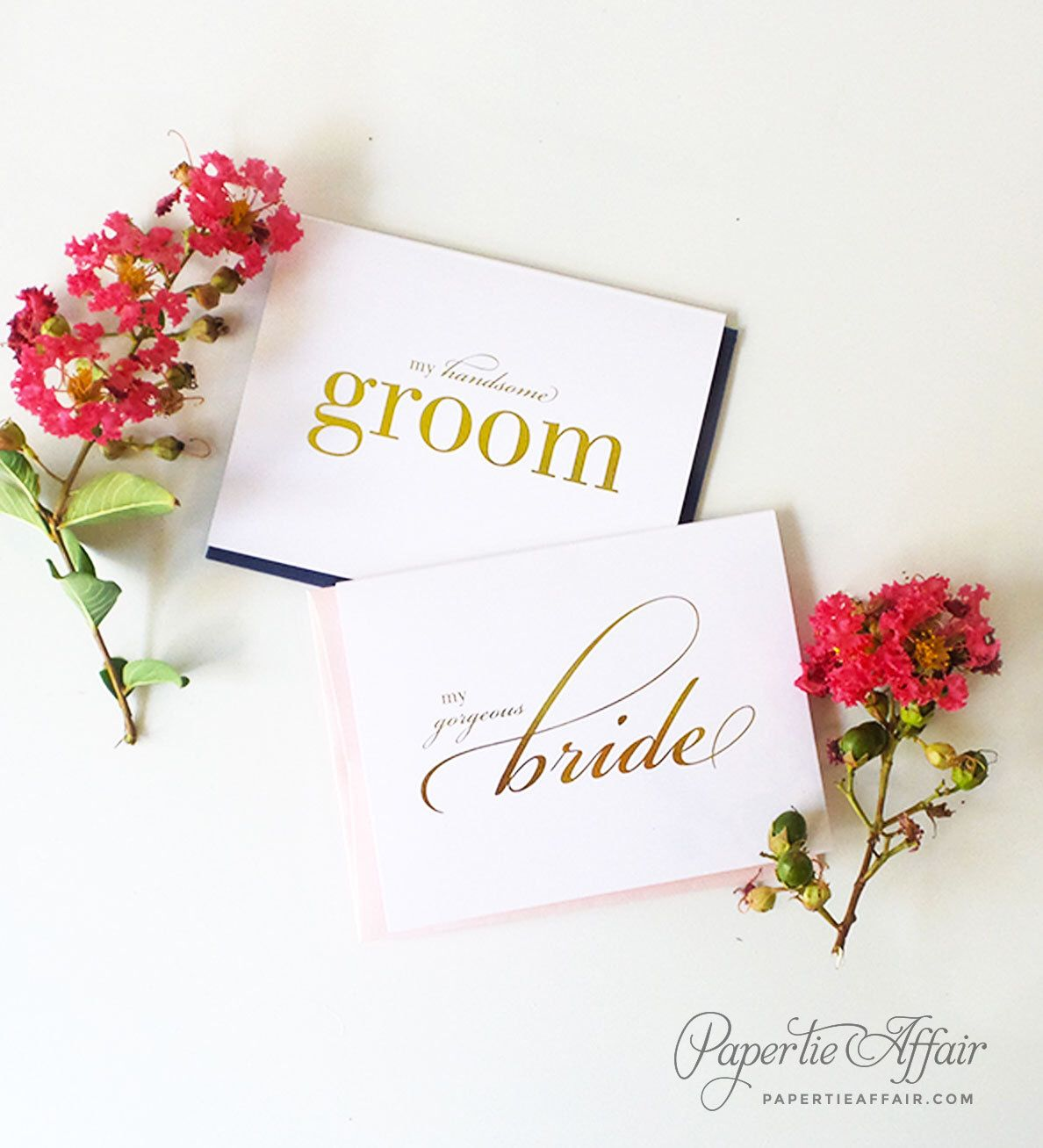 Foil Wedding Day Card To Bride Or Groom