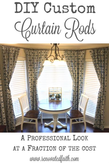 If You Want To Make The Most Of Your Decorating Budget Get A Professional Look At Fraction Cost With This Diy Custom Curtain Rod Tutorial