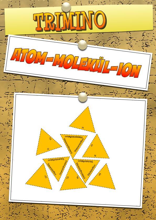 Lernspiel - Trimino - Atom, Molekül, Ion in 2020   Lernen ...
