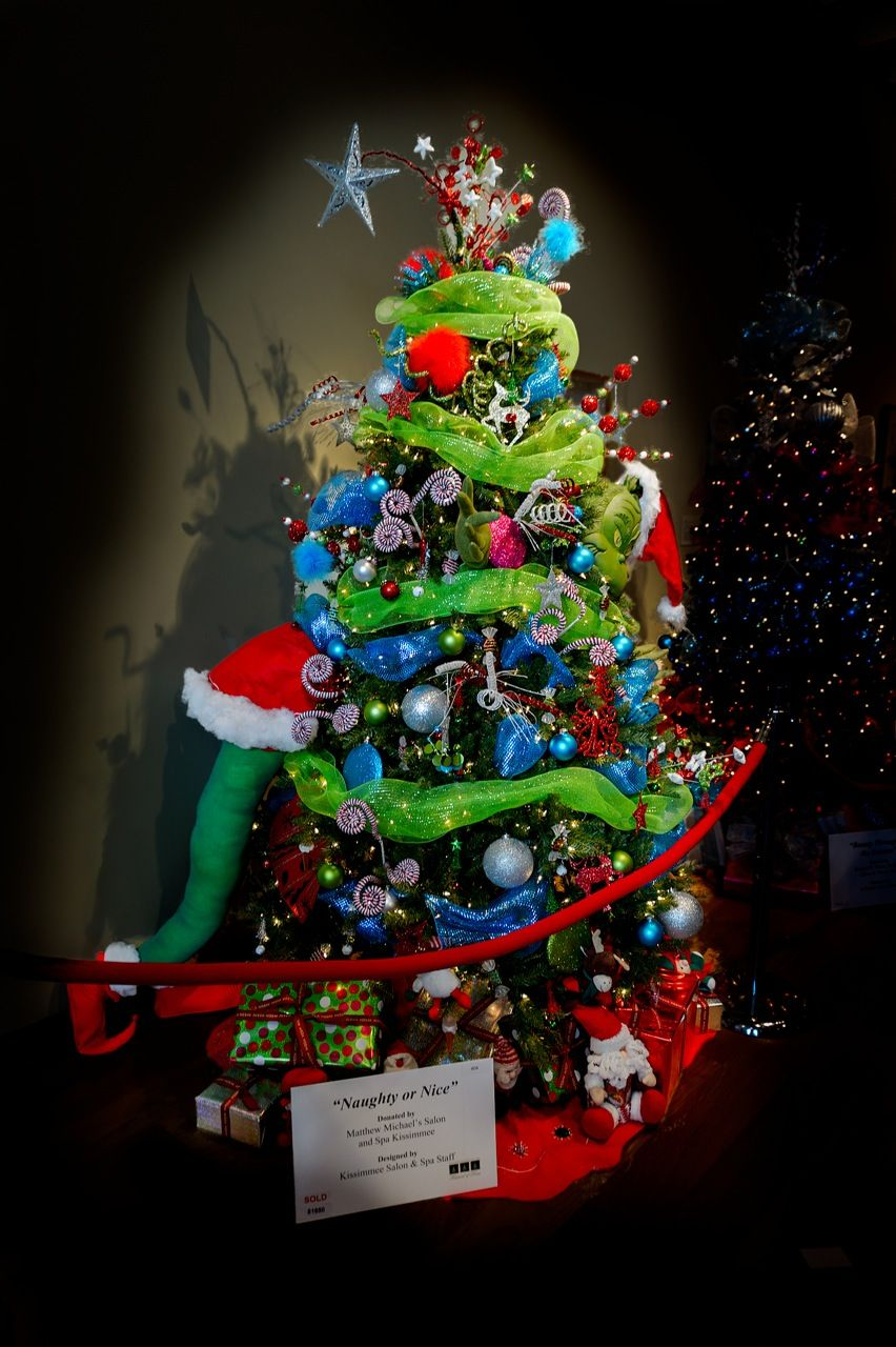 How The Grinch Stole Christmas Designed Christmas Tree It Was Part Of The Orlando Festi Grinch Christmas Tree Whimsical Christmas Trees Holiday Christmas Tree