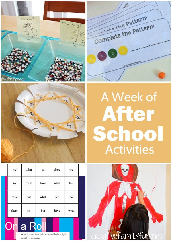 A Week of Fun After School Activities, lots of math and science ...