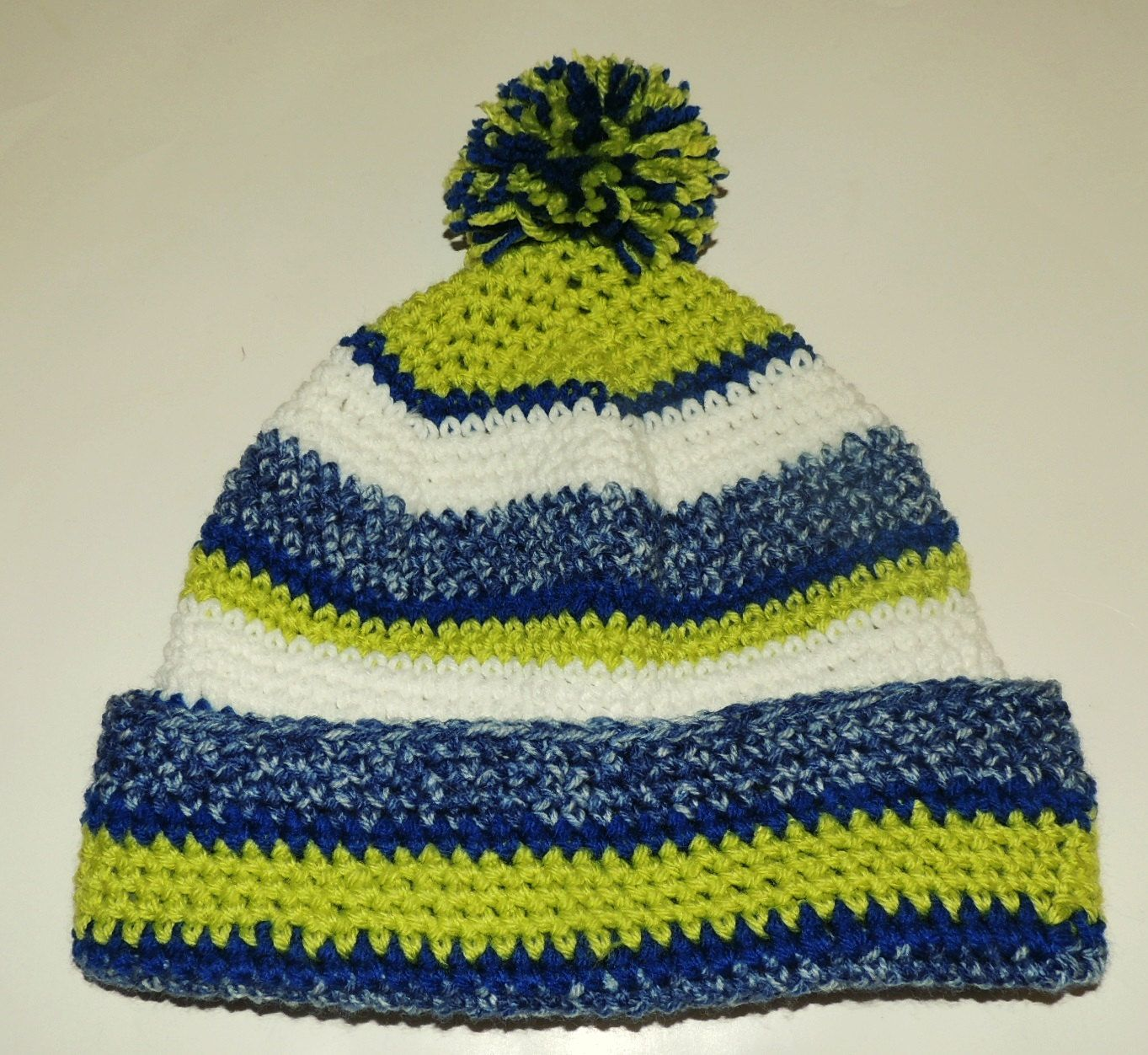 a1a344542c3 Crochet Pattern for Seattle Seahawks Sideline Beanie Hat Adult or Child Size  Instructions pdf