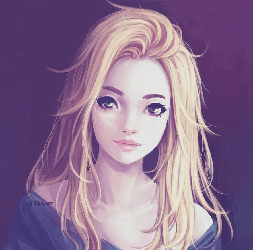 Realistic Beautiful Anime Girl Art
