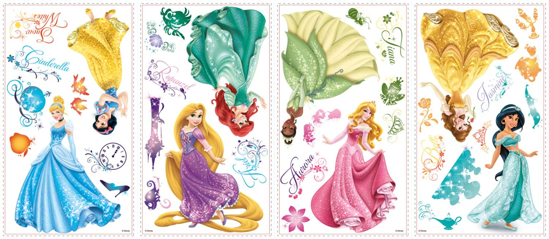 Adesivi Murali Principesse Disney.Adesivi Per Bambini Adesivi Murali Principesse Disney Royal Debutto